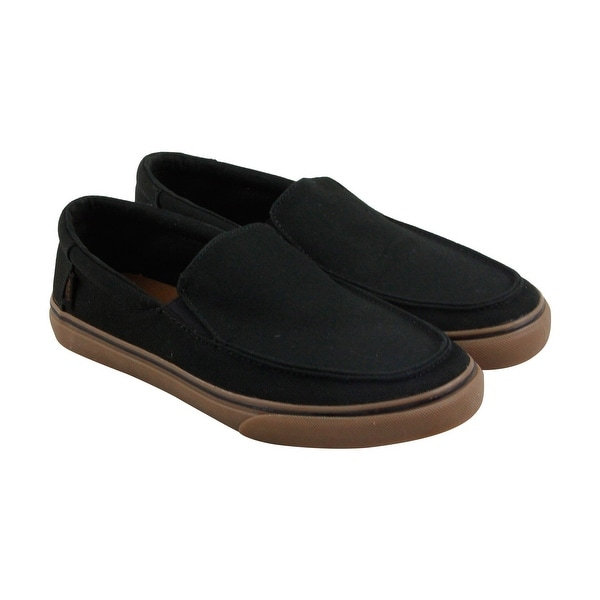 Vans Bali Sf Mens Black Canvas Casual Dress Slip On Loafers Shoes