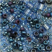 Toho Assorted Glass Beads 'Yumi' Periwinkle Mix 8g