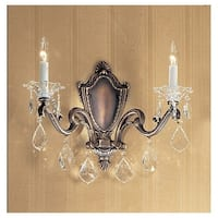 """Classic Lighting 57102-RB 14"""" Crystal Wallchiere from the Via Firenze Collection"""