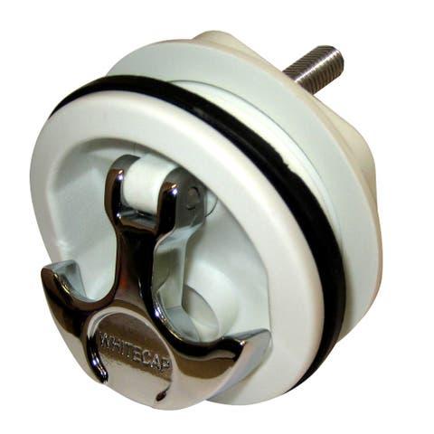 Whitecap T-Handle Latch - Chrome Plated Zamac/White Nylon - No Lock - Freshwater Use Only