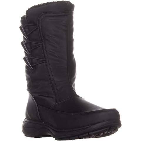 Sporto Womens Dana Closed Toe Mid-Calf Cold Weather Boots