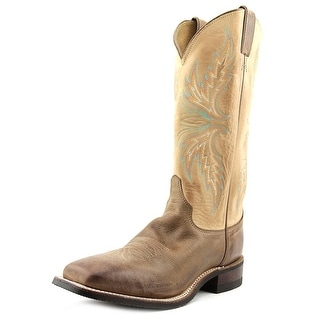 Justin Boots Puma Cowhide Boot Women Square Toe Leather Brown Western Boot