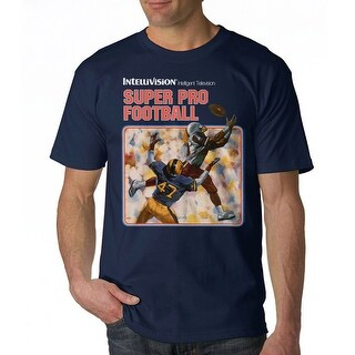 Intellivision Super Pro Football Men's Navy T-shirt