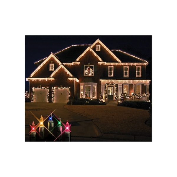 christmas at winterland wl ic100 m 100 light incandescent multicolor icicle string