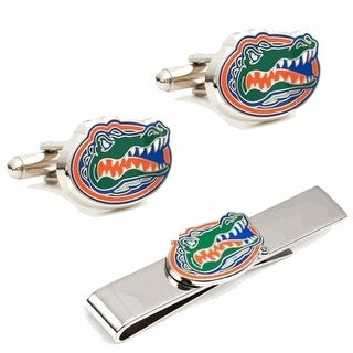Gift Set PD UFL CT University Of Florida Cufflinks And Tie Bar Gift Set