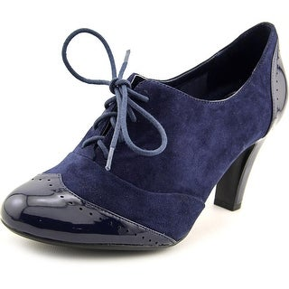 Giani Bernini Vickii Women Cap Toe Suede Blue Oxford