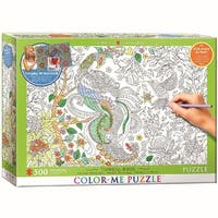 Color Me Tropical Birds 500 Piece Puzzle, 500 Piece Puzzles by Eurographics