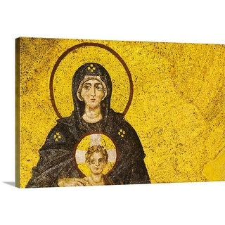 """Turkey, Istanbul, Mosaic of Virgin Mary and Jesus in Haghia Sophia Mosque"" Canvas Wall Art"