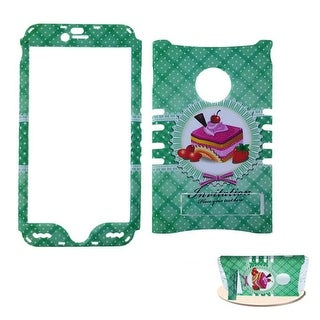 Rocker Snap-On Protective Case for Apple iPhone 6 Plus (Cakes Design on Green)