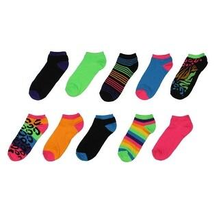 Modern Heritage Womens 10PK Animal Print Low-Cut Socks - 9-11