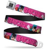 Dc Originals Black Silver Batgirl W Stars Pink White Webbing Seatbelt Belt Seatbelt Belt