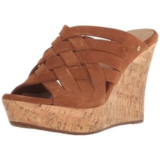 UGG Australia Womens Marta Suede Open Toe Casual Strappy Sandals