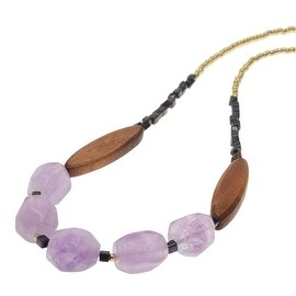 Boho Gemstone Necklace - Amethyst - Exclusive Beadaholique Jewelry Kit