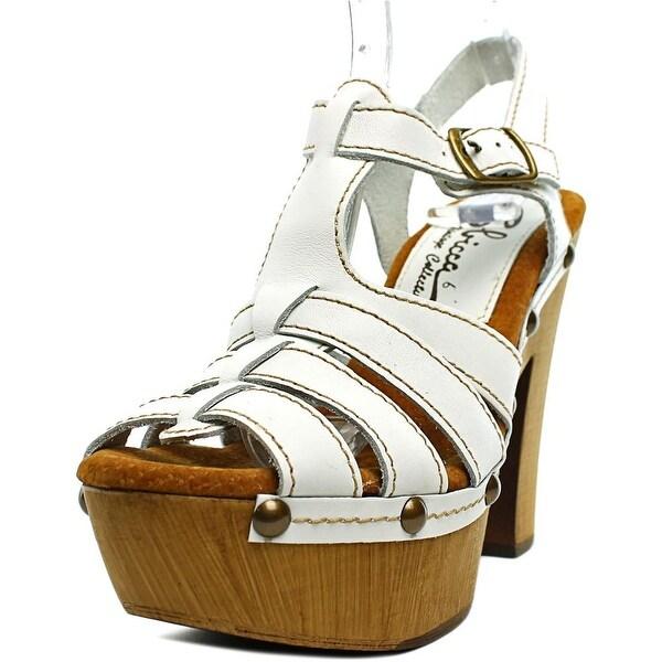 Sbicca Romana Women Open Toe Leather Platform Sandal