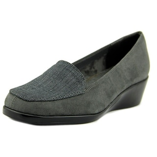A2 By Aerosoles Tempting Women  Square Toe Synthetic Gray Loafer