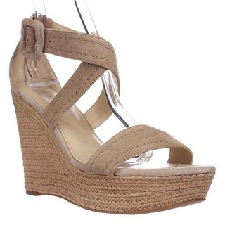 Marc Fisher Haely Espadrille Wedge Sandals, Light Natual