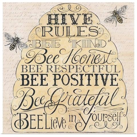 """Hive Rules"" Poster Print"