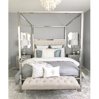... Solivita Queen Size Chrome Metal Poster Bed By INSPIRE Q Bold