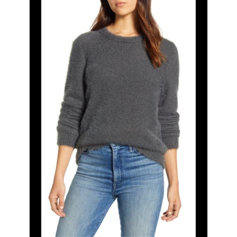 LUCKY BRAND Womens Gray Long Sleeve Jewel Neck Blouse Top Size XL
