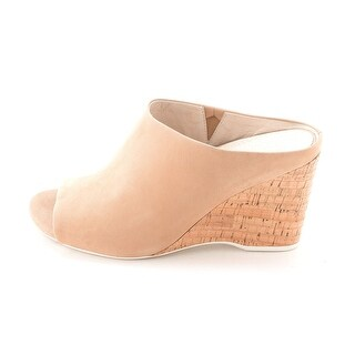 Kenneth Cole Womens Ian Nu Open Toe Wedge Mules