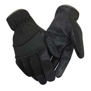 Northstar Suede Palm Lightweight Work Gloves Unisex Unlined Synthetic Black 58BK