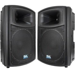 "(2) SEISMIC AUDIO 15"" Molded PA SPEAKERS Speaker System"