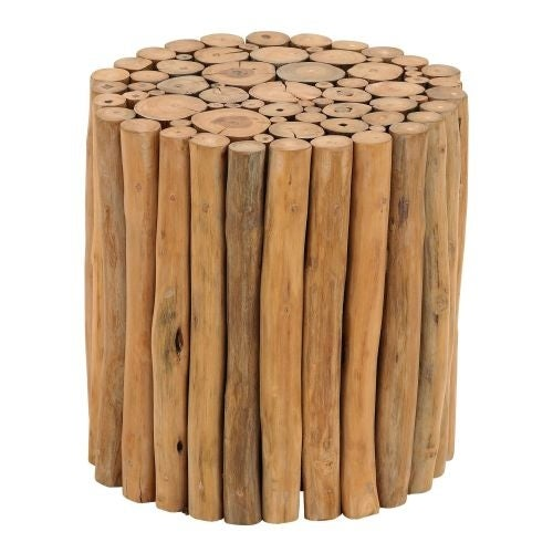 Aspire Home Accents 38411 Natural Teak Branch Wood Stool