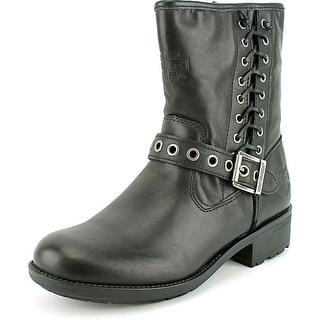 Harley Davidson Angelita Women Leather Black Motorcycle Boot