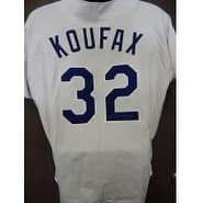 Signed Koufax Sandy Los Angeles Dodgers Los Angeles Dodgers Replica Jersey Large autographed
