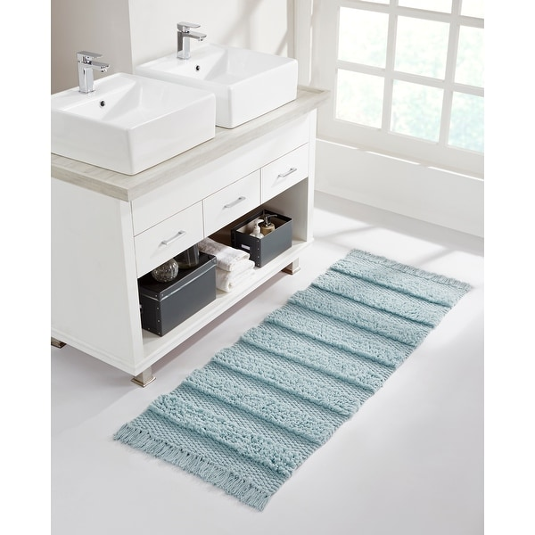 VCNY Home Savannah Cotton Fringe Runner Rug. Opens flyout.