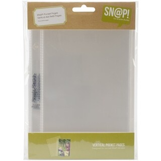 10-Pack Simple Stories Snatp Insta Pocket Pages for 6 by 8-Inch Binders with 2 by 2-Inch Pockets