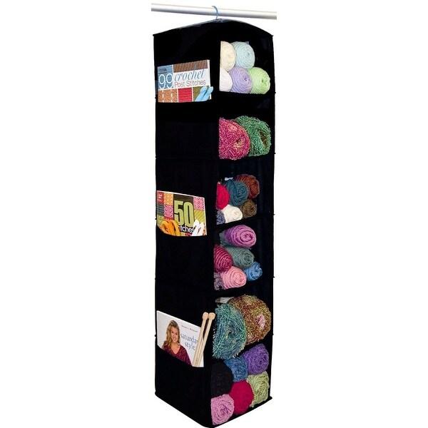 "6 Shelf Yarn & Craft Organizer 48""X11""X11""-Black - Black"