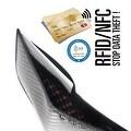 Ikepod Carbon Fiber Slim Down Wallet [ 3M Carbon Fiber + Italy Leather ] - Black - Thumbnail 2