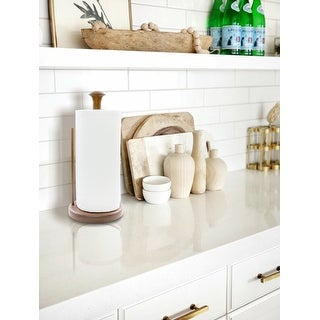 """Link to Teak Stand-Up Paper Towel Holder - 13-1/2"""" H x 5-7/8"""" Dia. Similar Items in Kitchen Storage"""
