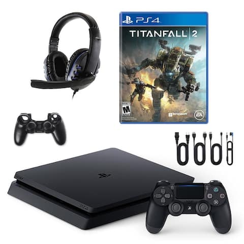 PlayStation 4 Slim with Titanfall 2 and Universal Headset - Black