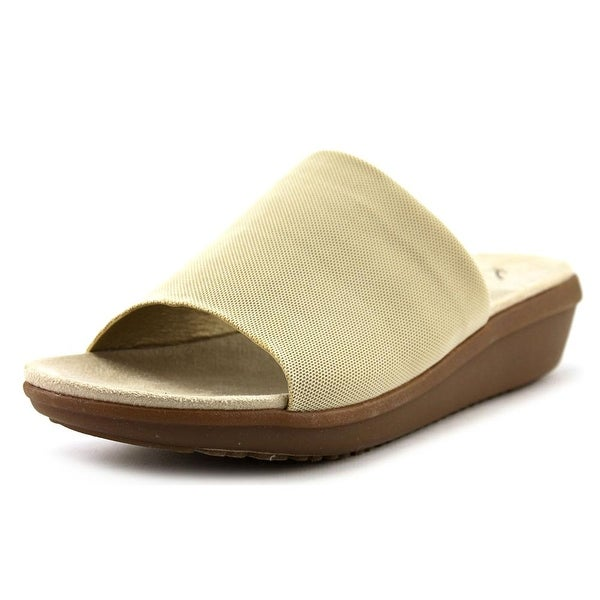 Kim Rogers Falicia Women Open Toe Canvas Nude Sandals