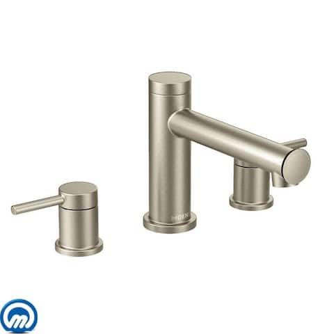 Moen T393 Deck Mounted Roman Tub Filler Trim from the Align Collection