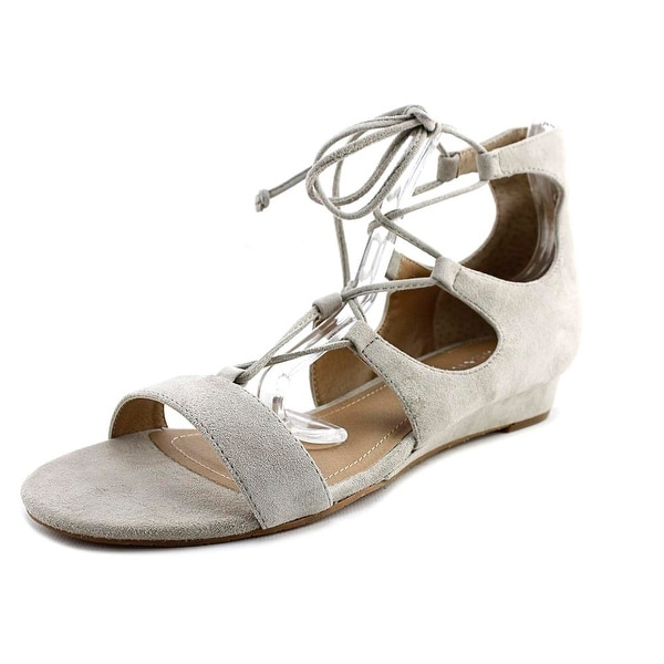 Tahari Camden Women Open Toe Canvas Gray Sandals