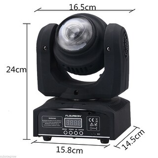 20W RGBW LED Moving Double Head Light DMX Stage Party Spot Beam Lighting 15/21CH - Black