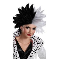Cruella Devil Wig, Black And White Wig - BLACK/WHITE - One Size Fits most