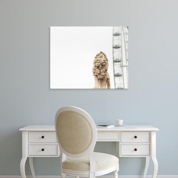 Easy Art Prints Keri Bevan's 'Lion of London' Premium Canvas Art