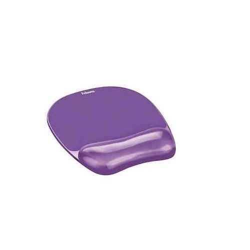 Fellowes 91441 Gel Crystals Mousepad And Wrist Rest - Purple