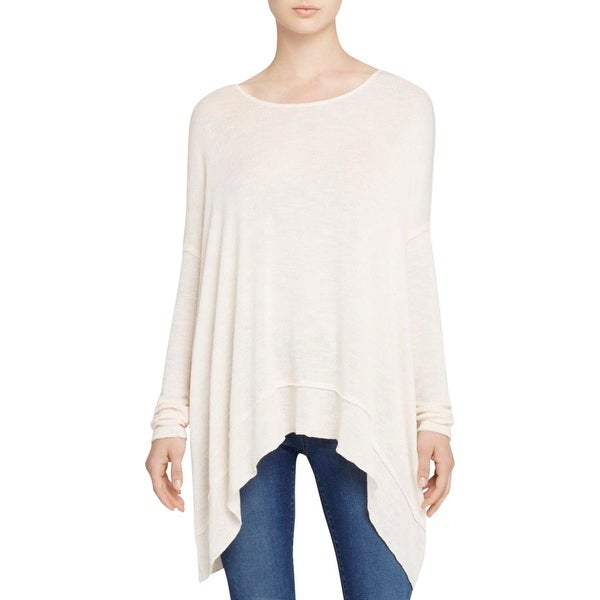 Free People Womens Hacci Pullover Sweater Oversized Cross Back