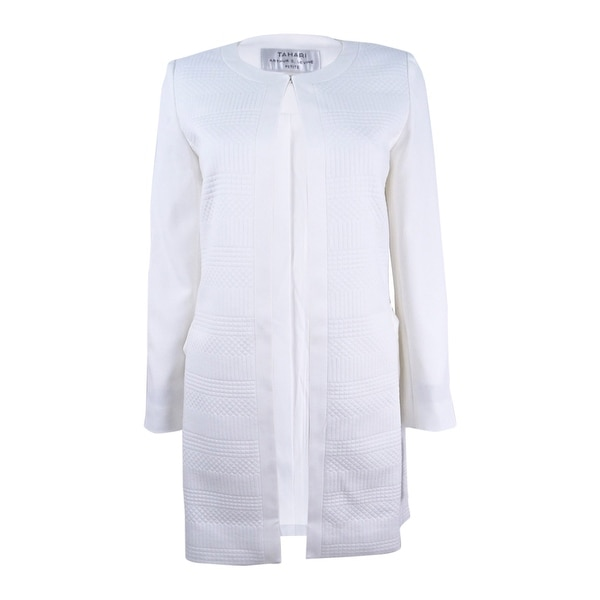 18c2a9a7c30 Shop Tahari ASL Women s Plus Size Jacquard Topper Jacket - Cloud - On Sale  - Free Shipping Today - Overstock.com - 21854921
