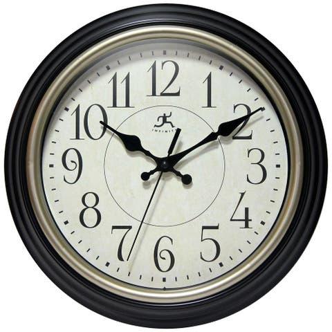 Nostalgia Traditional 11 inch Black/Copper Decorative Wall Clock