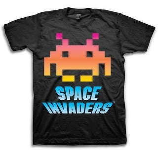 Space Invaders Men's Black Short Sleeve Shirt