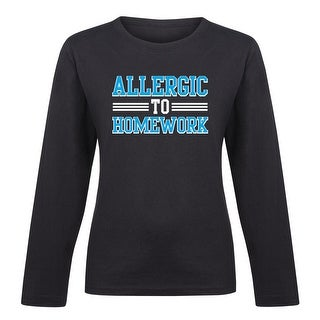 Allergic To Homework - Youth Girl Long Sleeve Tee