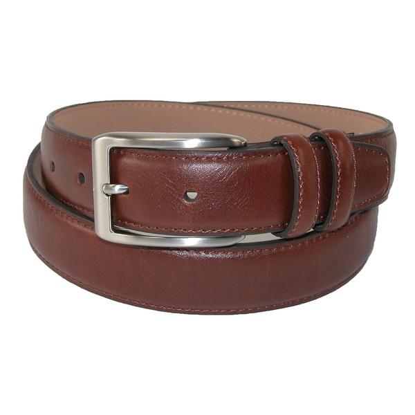 Dockers Men's Leather 32mm Belt with Double Loop Keeper