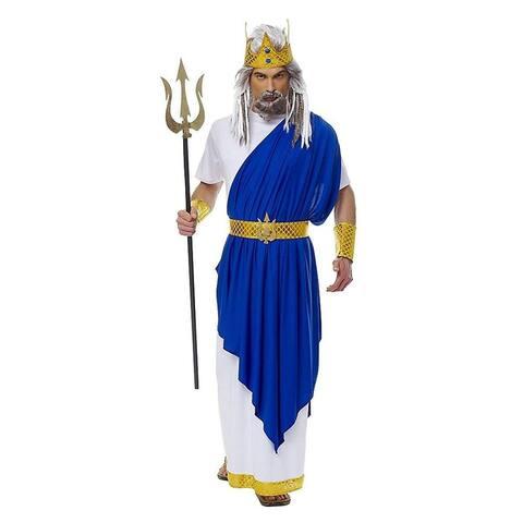 Neptune (Poseidon) Men's Costume - Blue