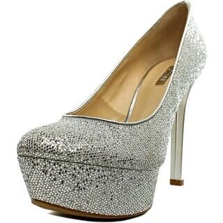 Guess Etten Women Open Toe Synthetic Silver Platform Heel